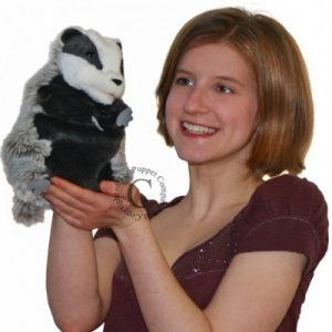 Hand Puppet Badger European -1