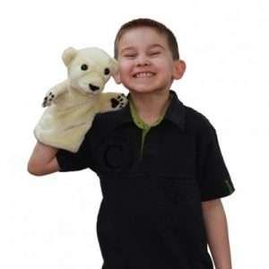 Polar Bear Hand Puppet-1