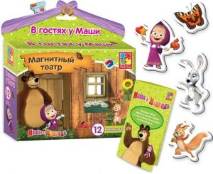 Магнитный театр Маша и Медведь. В гостях у Маши